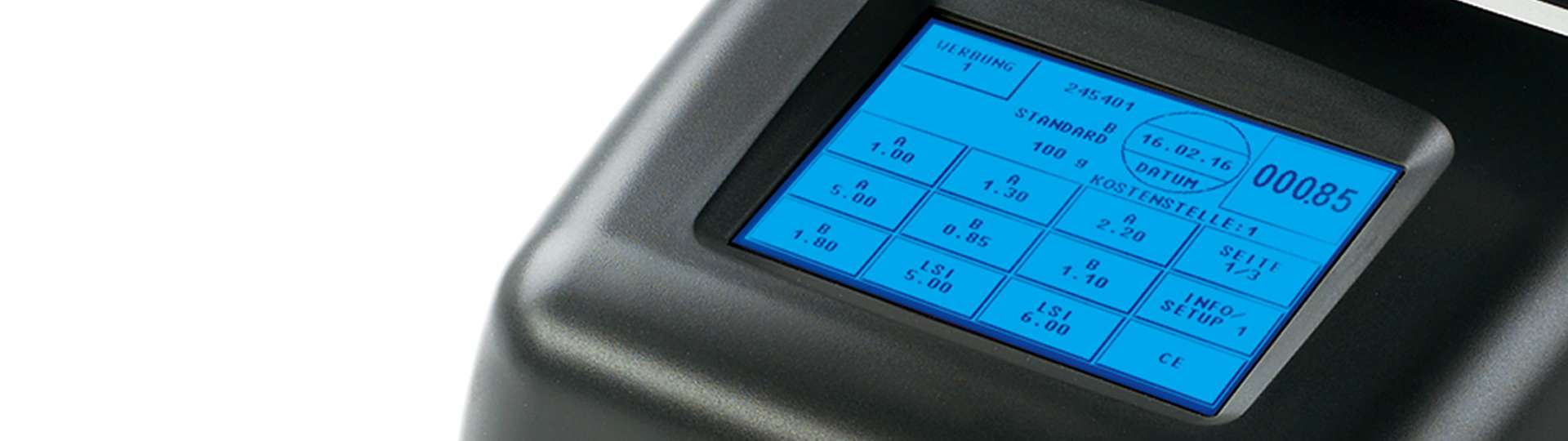 The OfficeMail is operated by touchscreen. Intuitive ComTouch interface for a better performance.