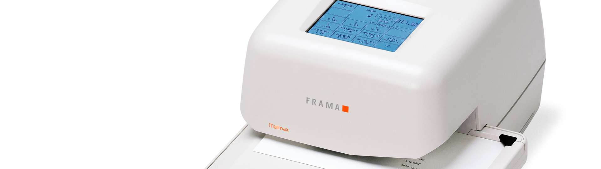 Frama Mailmax I is a intelligent and integrated franking system.